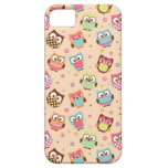 Cute Colourful Owls iPhone Case (pale apricot) iPhone 5 Cover