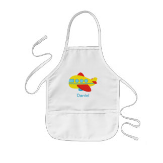 Cute Colourful Passenger Aeroplane Kids Apron