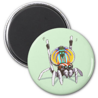 Cute Colourful Peacock Spider Drawing Art Magnet