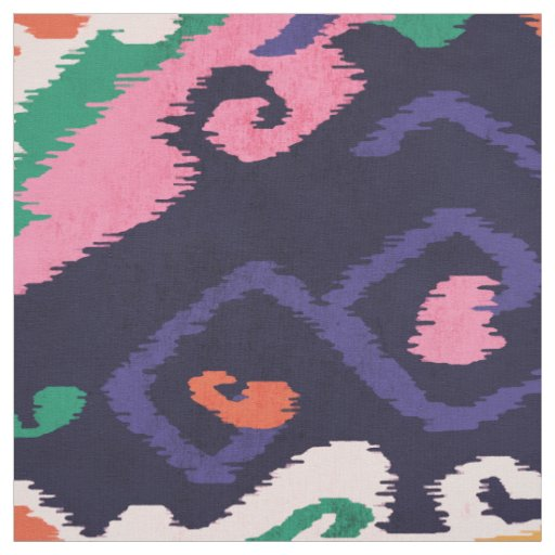 Cute colourful pink navy blue ikat tribal patterns