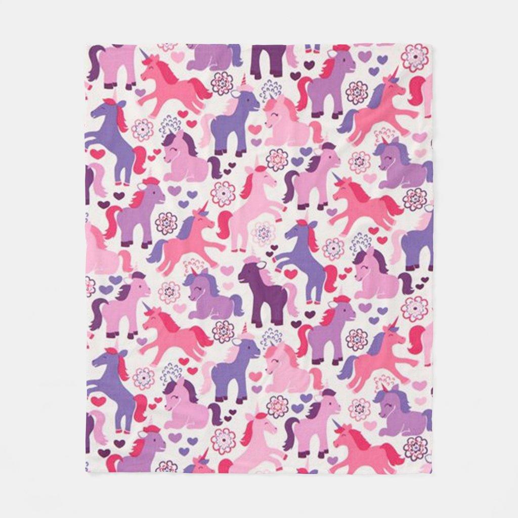 Colourful Unicorns Blanket