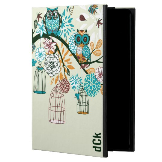 Cute Colourful Retro Flowers & Owls Powis iPad