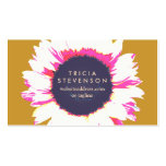 Cute Colourful SunFlower Logo Girly Floral Pack Of Standard Business Cards