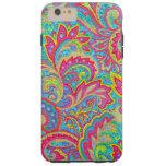 Cute colourful vintage floral design tough iPhone 6 plus case