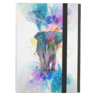 cute colourful watercolours splatters elephant cover for iPad air