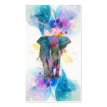 cute colourful watercolours splatters elephant pack of standard business cards