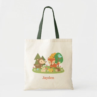 Cute Colourful Woodland Animal For Kids Tote Bag
