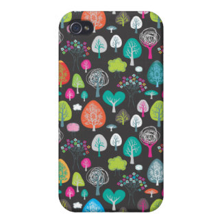 Cute colourfull retro spring doodle pattern case iPhone 4/4S cover