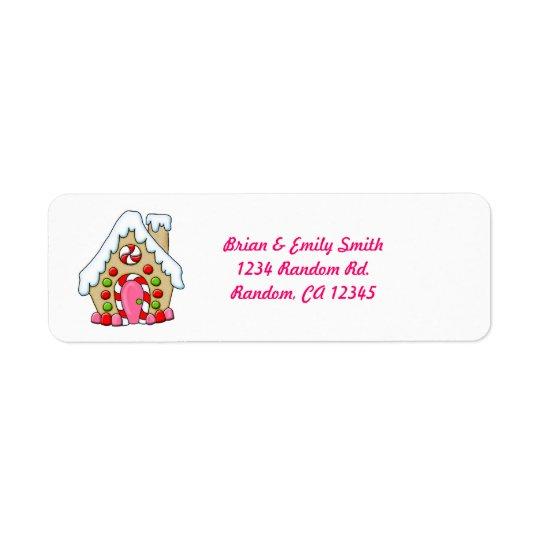 Cute colours gingerbread house return labels