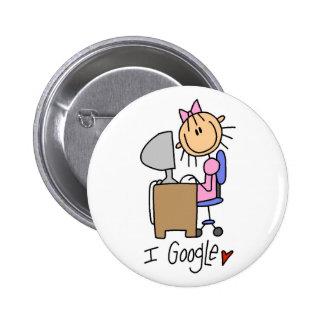 Cute Computer Gift Pinback Buttons