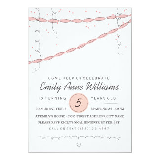 Cute Confetti Kid's Birthday Party Invite