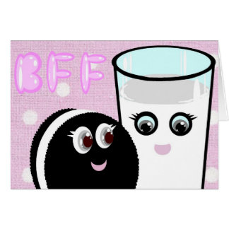 CUTE  COOKIE AND MILK  BFF CARD