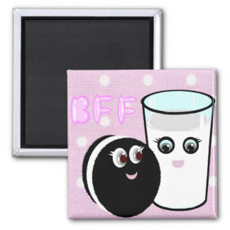 CUTE  COOKIE AND MILK  BFF MAGNET