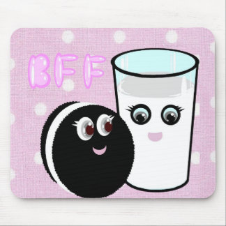 CUTE  COOKIE AND MILK  BFF MOUSE MAT