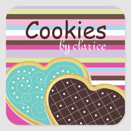 Cute Cookie Box Stickers