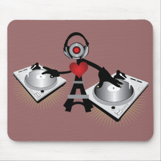 Cute & Cool DJ Character With Decks Mouse Mat