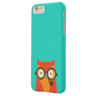 Cute Cool Funny Retro Hipster Owl Barely There iPhone 6 Plus Case