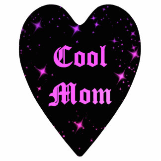 Cute cool mom punk black heart Mothers Day magnet Photo Sculpture Magnet