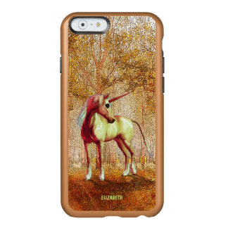 Cute Cool Pink Standing Unicorn Symbol Of Purity Incipio Feather® Shine iPhone 6 Case