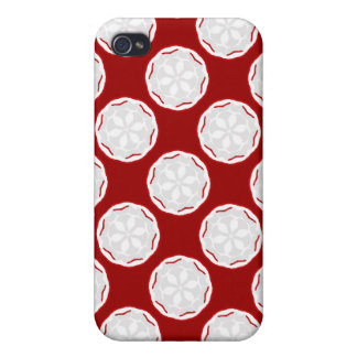 Cute Cool Red & White i Gift Cover For iPhone 4