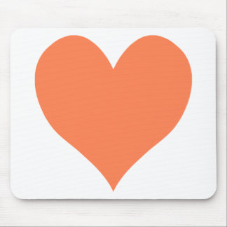 Cute Coral Heart Mouse Mat
