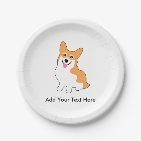 Cute Corgi Drawing - Add Your Own Text