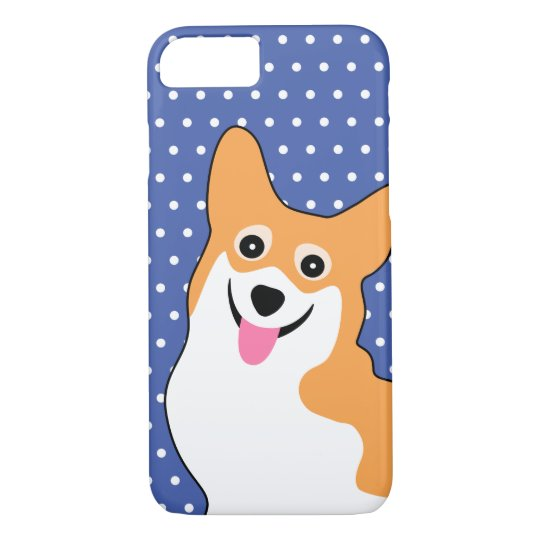 Cute Corgi with a Big Smile iPhone 8/7 Case
