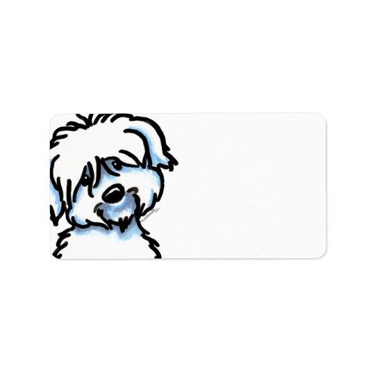 Cute Coton de Tulear Address Label