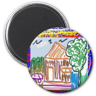 CUTE COTTAGE HOME : KIDS ART MAGNETS