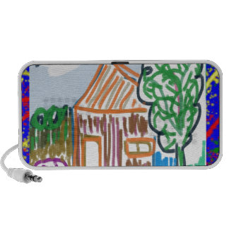 CUTE COTTAGE HOME : KIDS ART PC SPEAKERS