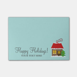 Cute cottage personalized Christmas winter Holiday Post-it Notes