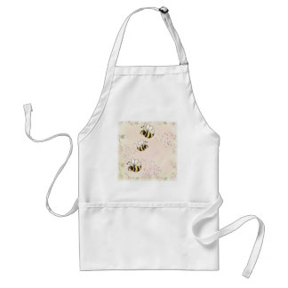 Cute Country Bees and Pink Roses Standard Apron
