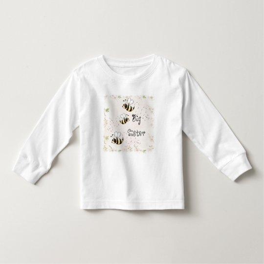 Cute Country Bees Big Sister Toddler T-Shirt
