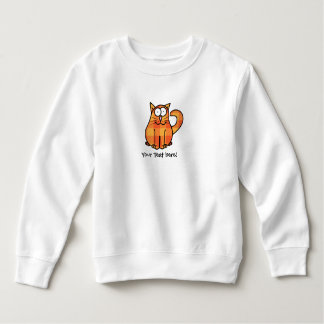 Cute Country Orange Calico Cartoon Kitty Cat Icon Sweatshirt