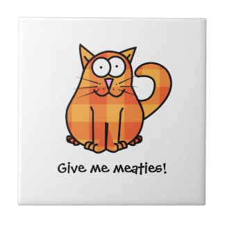 Cute Country Orange Calico Cartoon Kitty Cat Icon Tile