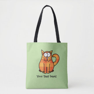 Cute Country Orange Calico Cartoon Kitty Cat Icon Tote Bag
