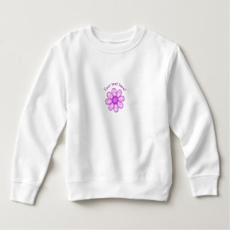 Cute Country Purple Pink Plaid Graphic Flower Icon Sweatshirt