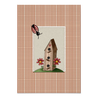 Cute Country Red Gingham Checks Baby Shower Card