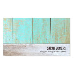 Cute Country Rustic Reclaimed Turquoise Wood Pack Of Standard Business Cards
