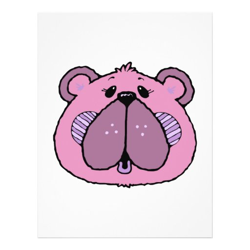 cute country style bear face flyers