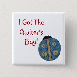 Cute Country Style Quilting Ladybug 15 Cm Square Badge
