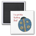 Cute Country Style Quilting Ladybug Magnet
