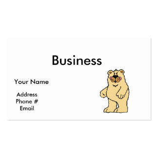 cute country style tan bear pack of standard business cards