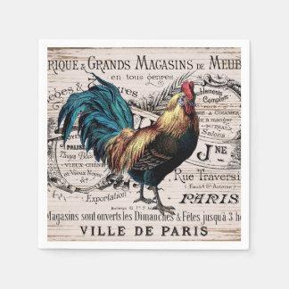 Cute Country Vintage rooster Paris napkins Disposable Serviette