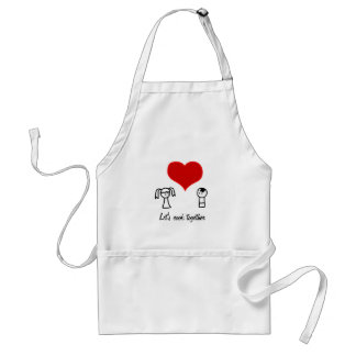 'Cute couple'  apron