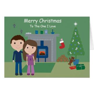 Cute Couple Merry Christmas To The One I Love Card