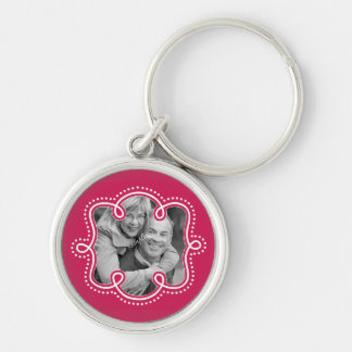 Cute Couple Pic Doodle Frame Raspberry Key Chains