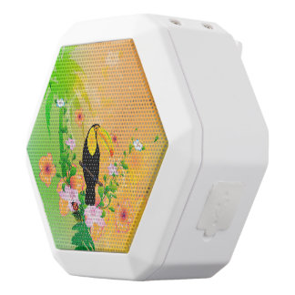 Cute coutan with tropical background white boombot rex bluetooth speaker