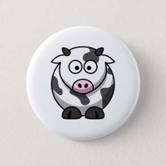 Cute Cow 6 Cm Round Badge