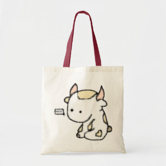 Cute cow budget tote bag